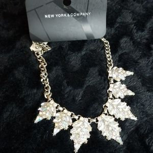 New York & Co Silver Jewel Necklace
